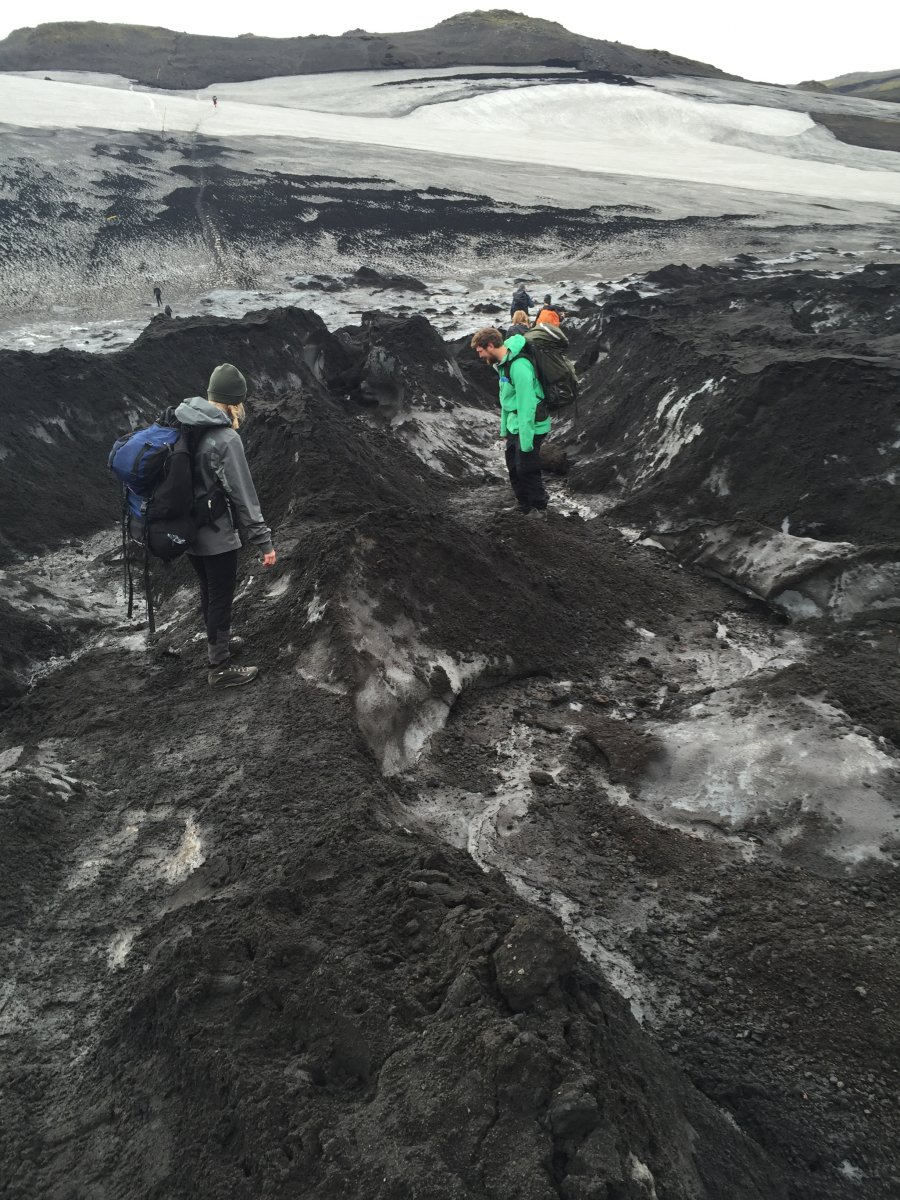 Field trip on a glacier