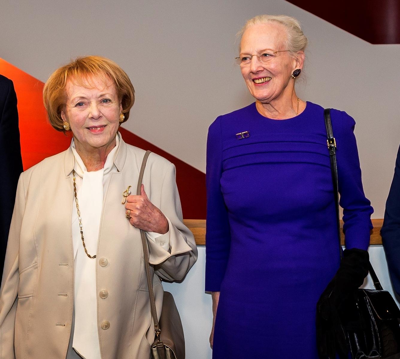 Vigdís Finnbogadóttir og Margrét Danadrottning