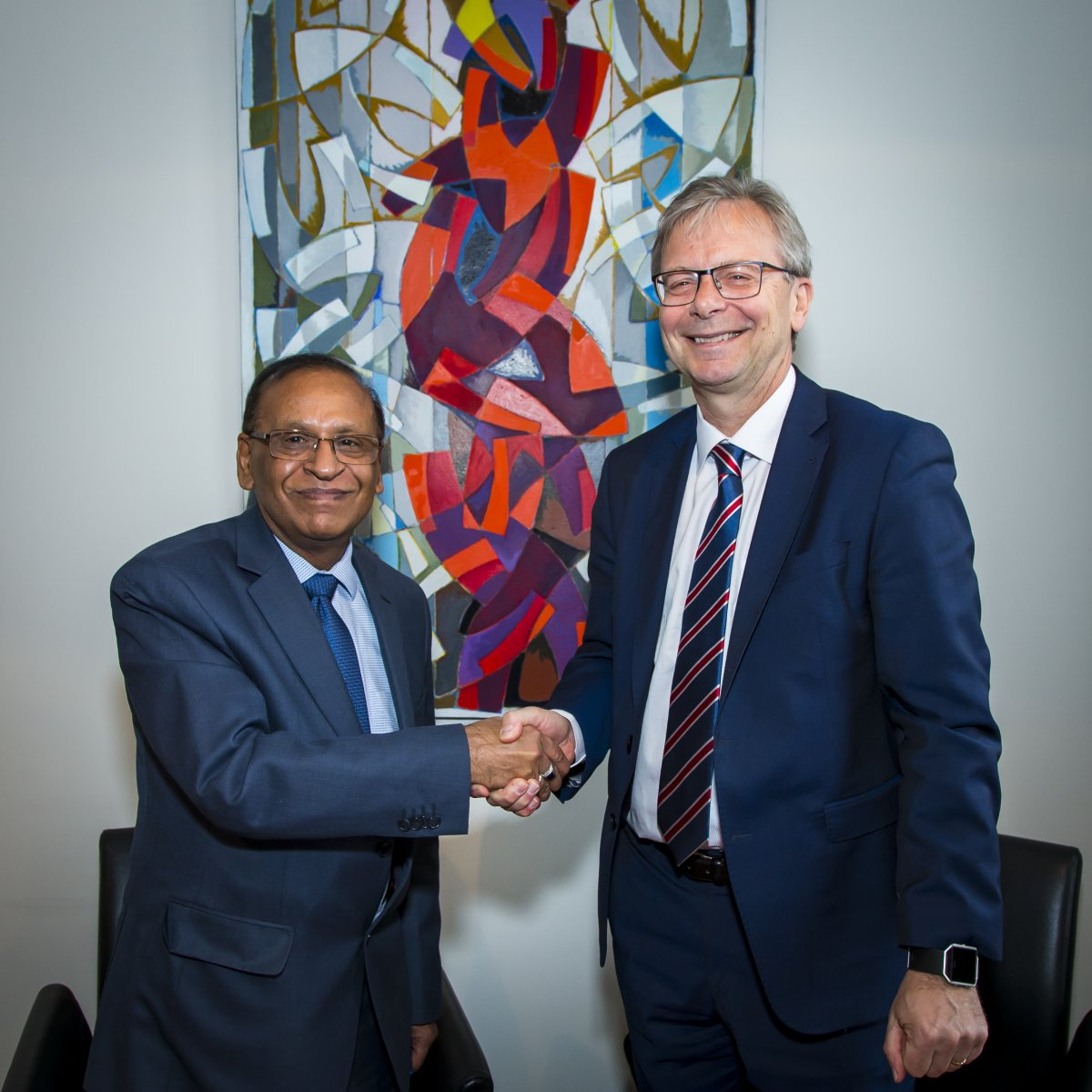 Rajiv K. Nagpal, India's ambassador in Iceland and Jón Atli Benediktsson, Rector at the University of Iceland