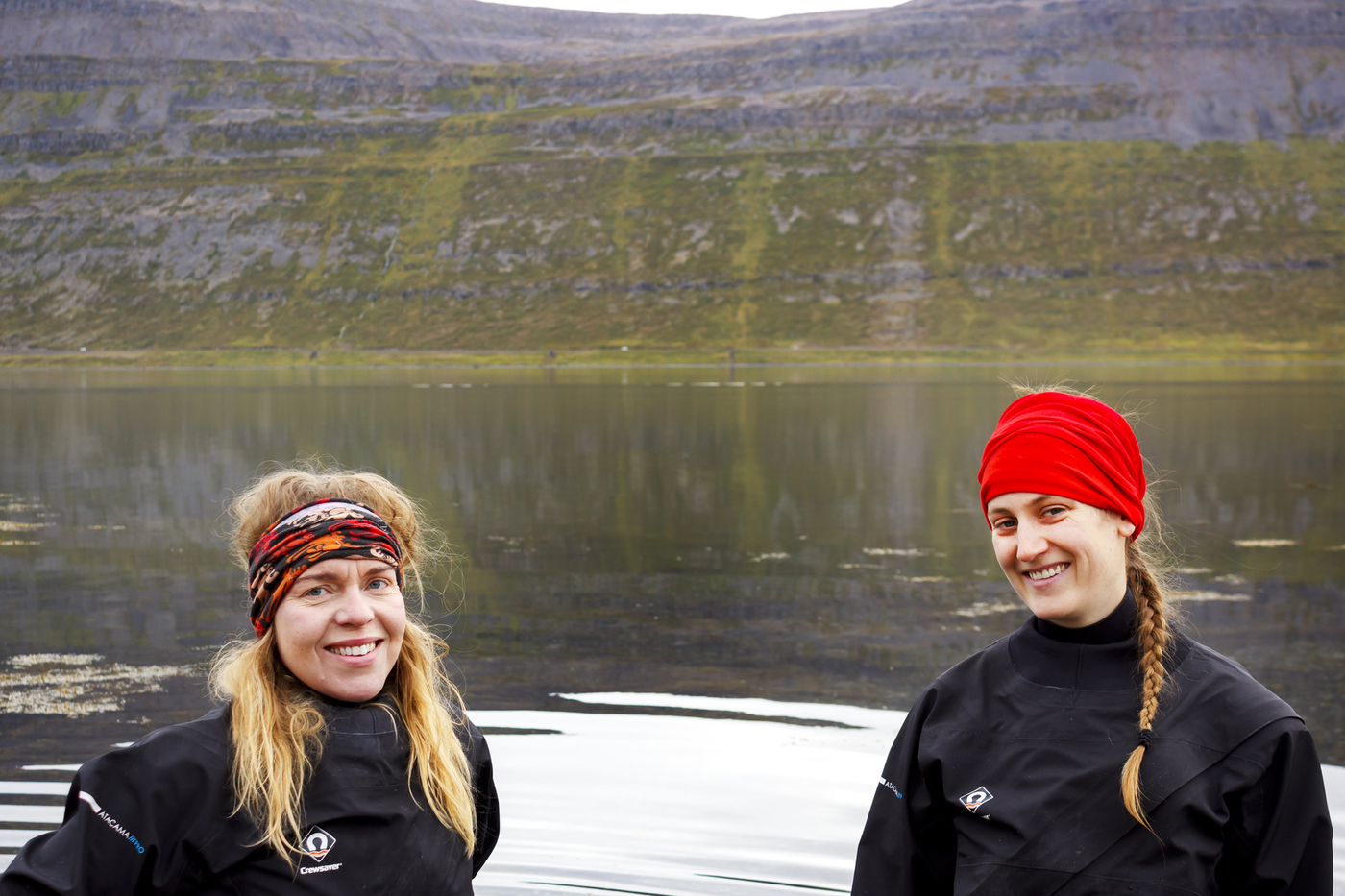Guðbjörg Ásta Ólafsdóttir andMichelle Valliant