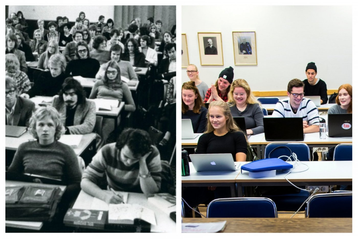 Univeristy students now and in the past