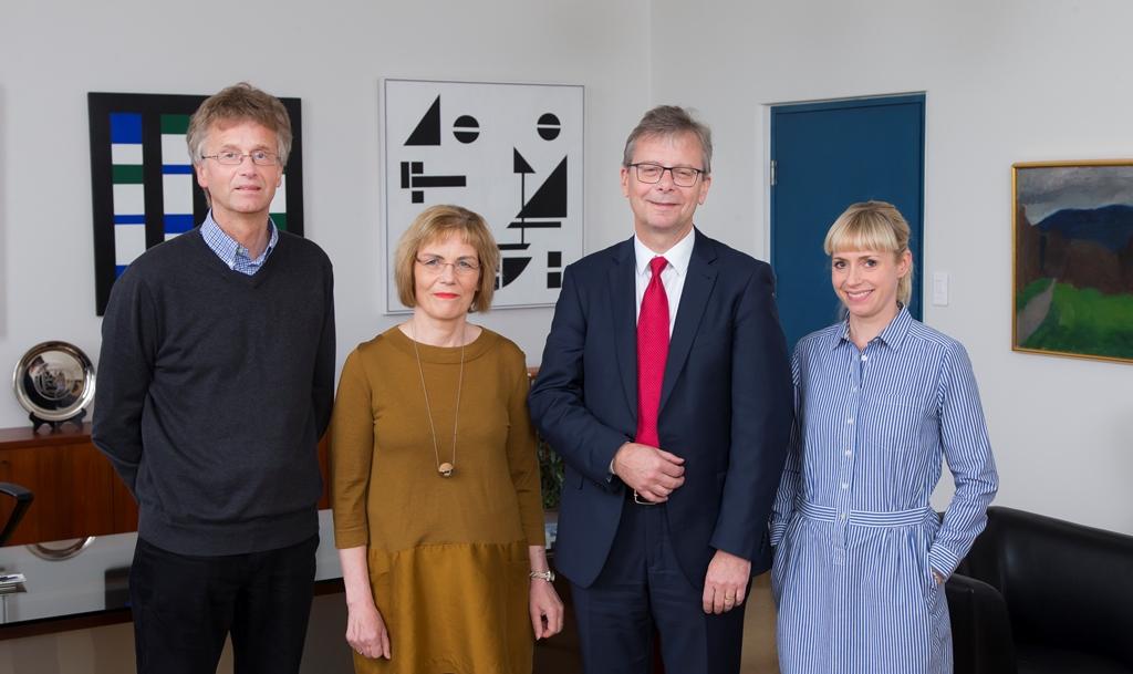 Guðmundur R. Jónasson, Guðbjörg Linda Rafnsdóttir, Jón Atli Benediktsson, and Steinunn Gestsdóttir