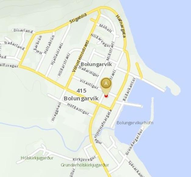 Map of Bolungarvík
