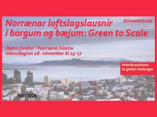 Nordic Green to Scale for Cities and Communities