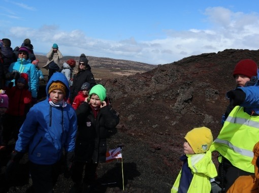 Volcanic and lava expedition: Búrfell