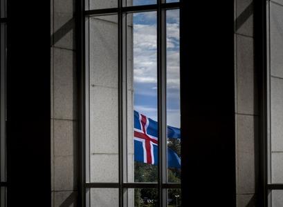 Icelandic flag outside the University Main Building