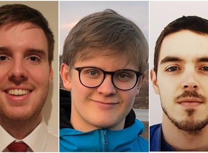 Alexander Berg Garðarsson, Kári Rögnvaldsson and Rafael Vias make up the team Klakinn, which is through to the finals of an international challenge to create a prediction model for the coronavirus pandemic.