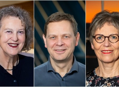 The professors, Auður Hauksdóttir, Magnús Tumi Guðmundsson and Guðbjörg Linda Rafnsdóttir will represent Iceland in the new steering group of the Danish-Icelandic research centre on ocean, climate and society that is being established these days in honour of Margrethe, queen of Denmark, and Vigdís Finnbogadóttir, former President of Iceland.