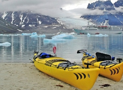 Kayaks in the Arctic