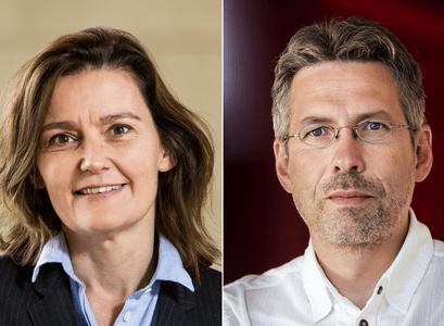 ProfessorsSalvör Nordal and Jón Ólafsson at theUniversity of Iceland
