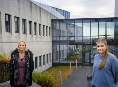 Þórhildur Jetzek og Erla Björk Sigurðardóttir