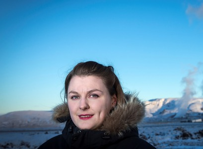 Sandra Ósk Snæbjörnsdóttir, doctoral student at the Faculty of Earth Sciences